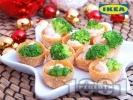 Рецепта Хрупкави гурме кошнички с броколи и рибен пастет